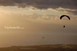 Paragliding Sonnenuntergang