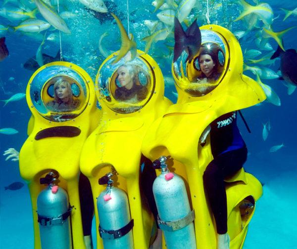 Bob Diving mit 3 Mädchen