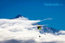 Paragliding Teide Schnee